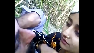 desi guy with beautifull teen outdoor