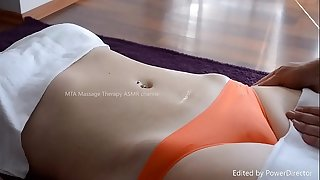 Unexperienced Massage  with tight subjugation - perfect Camel toe