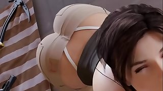 Lara croft huge-titted a thick cock hentai