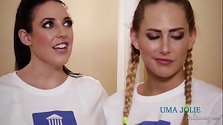 Carter Cruise, Uma Jolie, Angela White lesbian threesome