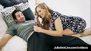Step Mother Julia Ann Facehole Pounds Step Son's Cock!