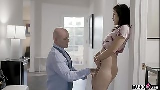 Stepdaughter wets herself when lectured by stepdad