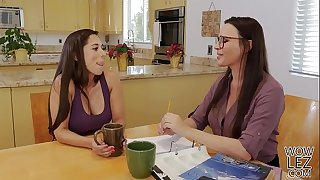 Tutoring turns into lesbo lovemaking - Dana DeArmond and Reena Sky