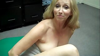 Grandma frigs herself then FREAKS OUT at Porn Casting (Behind the Scenes)