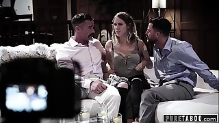 PURE TABOO Cadence Tricked Into Revenge 3Some with Strangers!