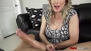 Beautiful Step Mother Family Blowjob For Son