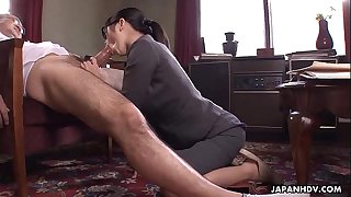 Office Lady Kana getting her wet cunt creampied